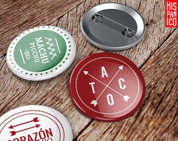 6 Przypinek: Iberoameryka / pins, badges, buttons