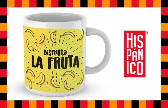 """Spanish Mug """"Disfruta la fruta"""""""