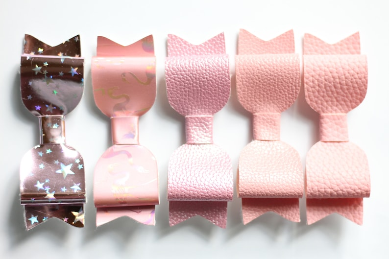Perfectly Pink Faux Leather Bows