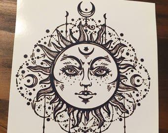 c0ce7a59523c0 Sun Goddess / Yoga / Moon / Mandala / Tribal Mandalas / Affirmation  Temporary Tattoo / Tribal /Custom Tattoos