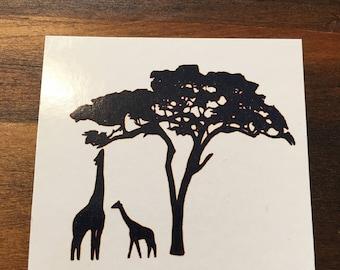 Giraffe Tattoo /Jungle Tattoo / African Animals / Temporary Tattoo / Tribal  /Custom Tattoos