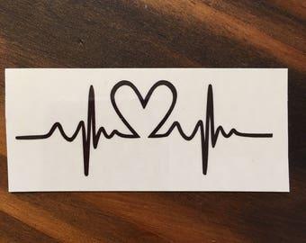 Heartbeat Heart Tattoo Cross Valentines Heart Tattoo Etsy