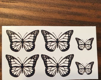 02ffcb0a4d194 Micro Butterfly Temporary Tattoo / Tribal Butterfly /Custom Tattoos