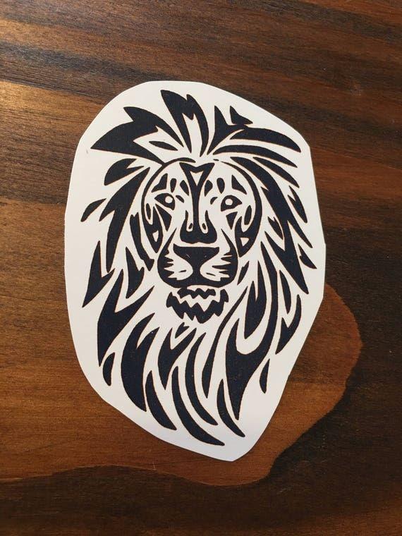 Tribale Lion Lion Tatouage Jungle Tatouage Africaine Etsy