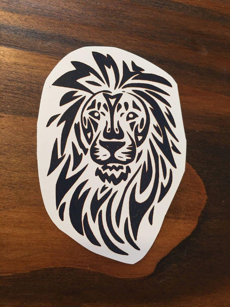 Tribal Lion Lion Tattoo Jungle Tattoo African Animals Etsy