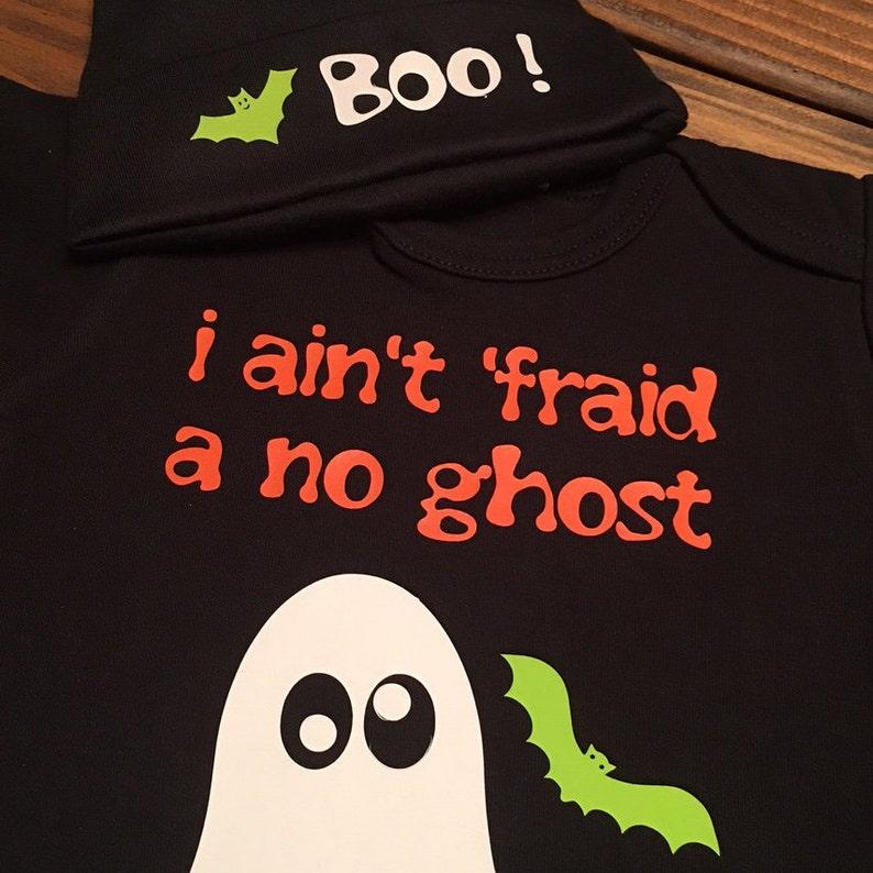Halloween Ghost  ONESIE\u00ae  TWO Piece Ghost ONESIE\u00ae /& Hat  Ghost Busters Trick or Treat Creeper Ghost Costume Infant Halloween Costume