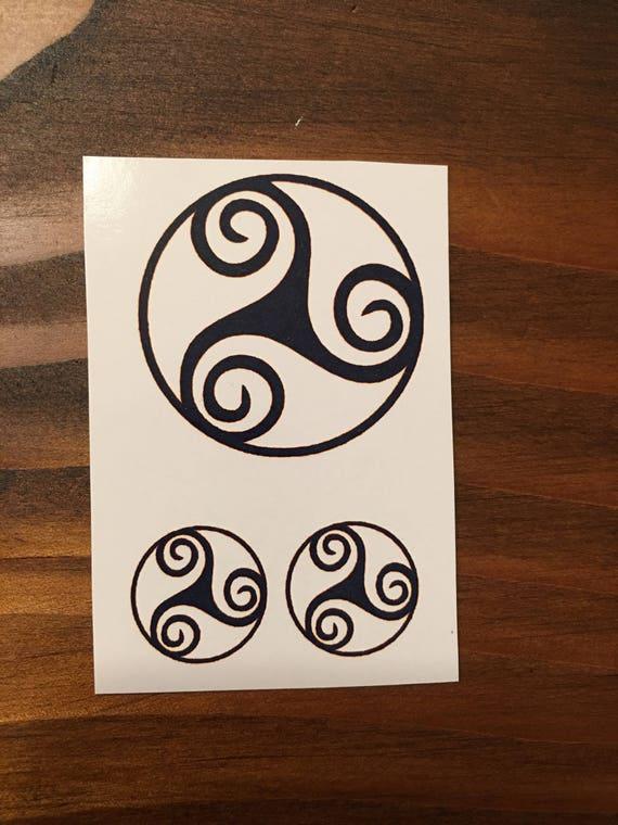 Okrągłe Celtic Tatuażeceltic Węzeł Tatuażeceltic Etsy