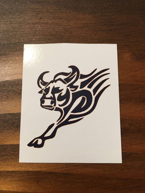 Tatouage Taureau Taureau Symbole Taureau Tribal Bull Etsy