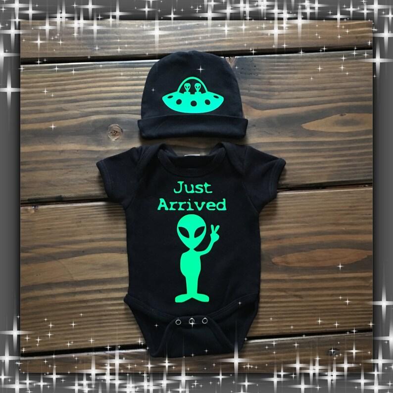 0936c05f0 Alien ONESIE® / Roswell Alien Infant Creeper/ TWO piece | Etsy