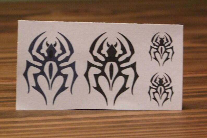 494b5ac4a Temporary Tattoo/Tribal Spider Tattoo/Black Tattoo/Custom   Etsy