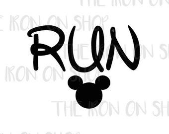 Run Disney Iron-on Transfer