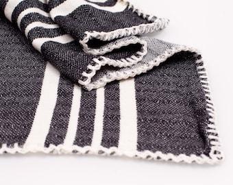 Cotton Turkish Towel without Fringe/ Peshtemal Without Tassle