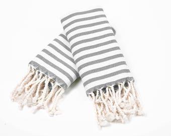 Set of 25 Small Size Peshtemal Towels , Hand Towel , Fitness Towel, Dish Towel ( TOTAL 25 ) Wholesale