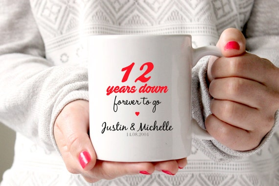 12th Anniversary Gift 12th Wedding Anniversary 12th Etsy