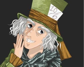 The Hatter - Alice in Wonderland Print