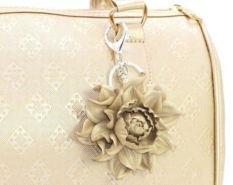 af49edcde883 Genuine Leather Flower Bag Charm 3