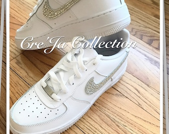 superior quality af0fc 4c617 Bling Air Force Ones, Bling Nike, Custom Nike Shoes, Custom Air Force 1  Shoes, Bling Nike, Wedding Nike, Wedding Sneakers, Trainers