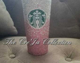 cdf1f2f09b Starbucks Bling Cup, Coffee Bling Cup, Starbucks Tumbler, JLo Cup, Rhinestone  Starbucks Cup, Rhinestone Coffee Cup, 16oz Cup