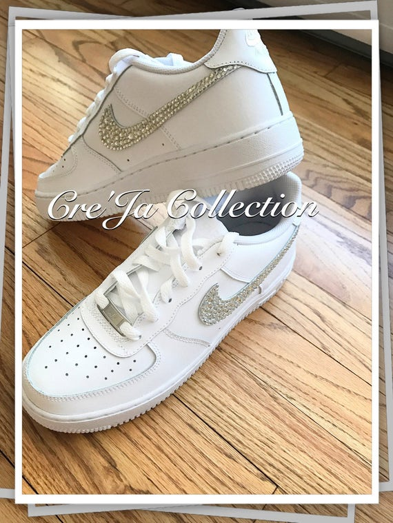 Custom Bling Air Force Ones Bling Nike Nike Schuhe Etsy