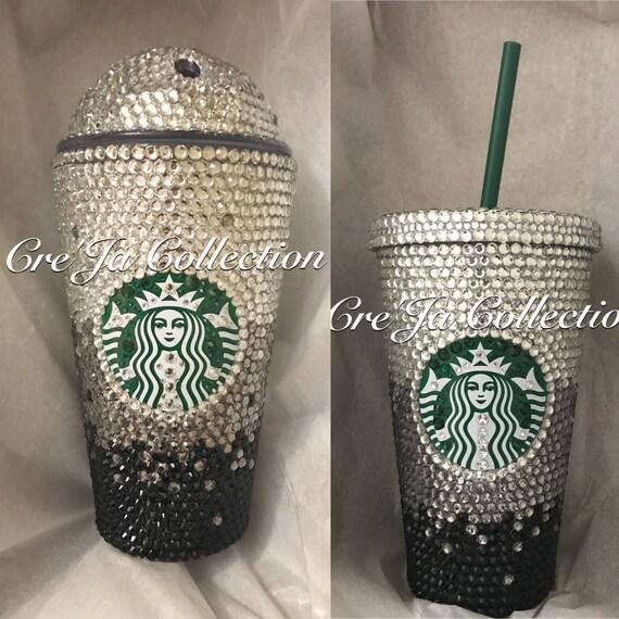 38f815fb221 Starbucks Bling Cup, Starbucks Bling Tumbler, Coffee Cup Bling, Bling  Tumbler, Jlo Cup, Rhinestone Drinking Cup