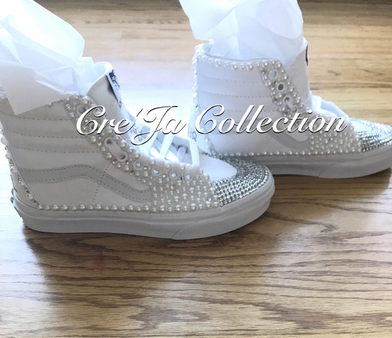 bbd8a754cc2736 Wedding Vans Pearl Vans Bridal Vans Vans Shoes Wedding