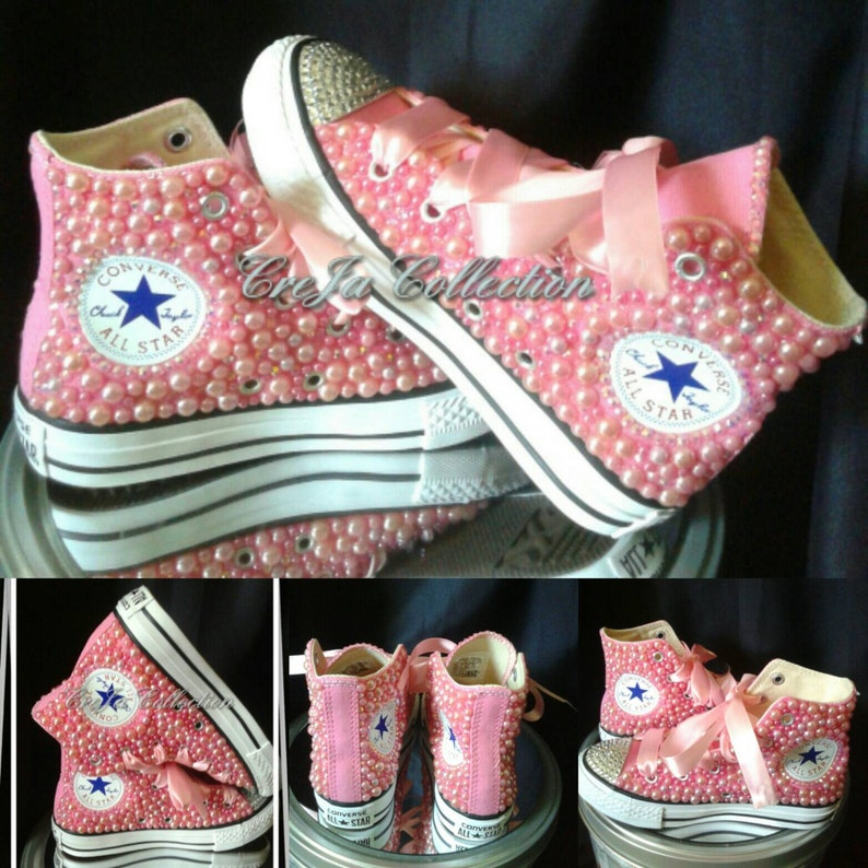 bac12e91c6da11 Pink Pearl Converse Kids ConverseKids Custom High Top