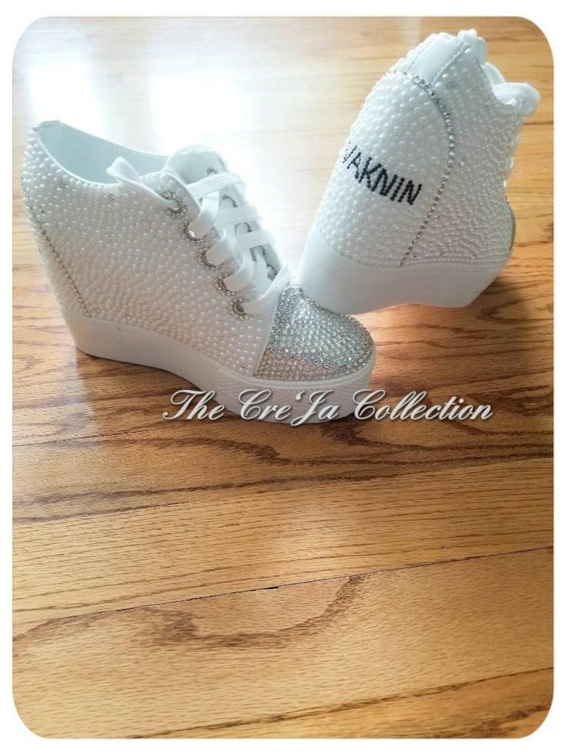 e2134020bf27 Wedding Platform Sneakers Wedding Wedges Pearl Wedges