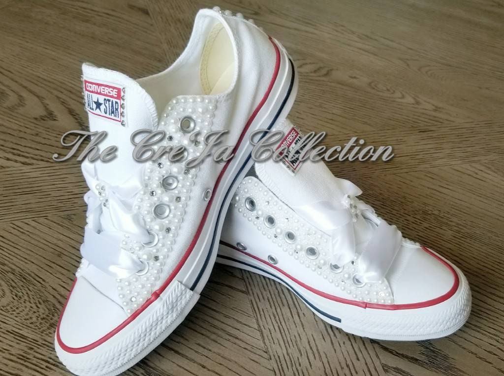 240ebd6f2c1 Wedding ConverseWomens converse crystal Personalized All | Etsy