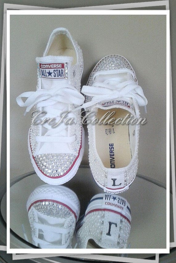Kinder Custom Converse, Mädchen Perle Converse, Kinder Perle Chucks, Kinder All Star Chucks, Kinder Bling Converse, Kinder Schuhe
