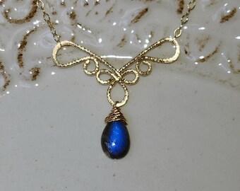 Chandelier - Labradorite 14k Gold Filled Necklace 14k Gold Filled Necklace