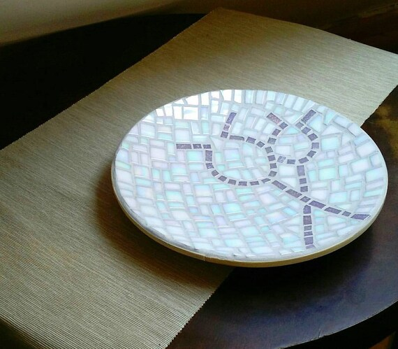"Bamboo Mosaic Bowl ""Poppy Seeds"""