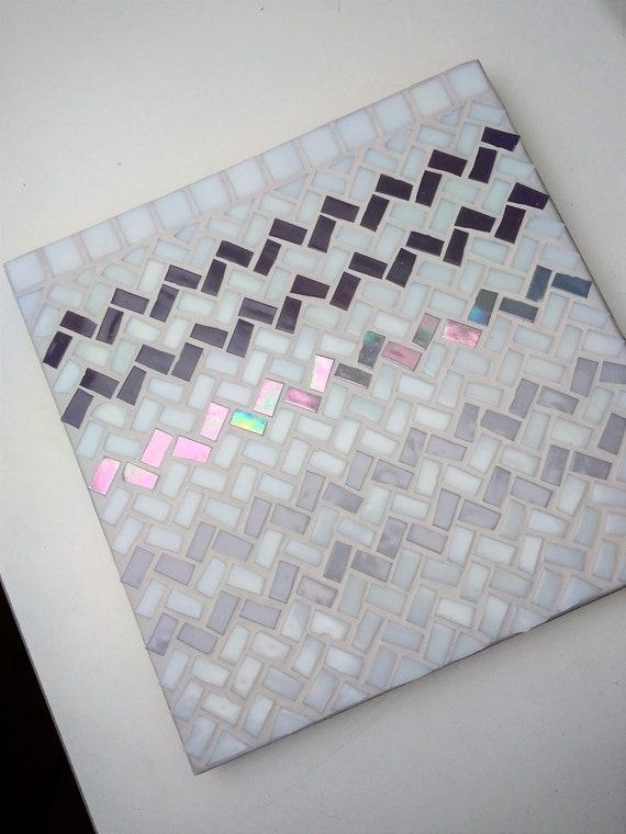 "Mosaic Mural ""Sweater"" // Three shades of grey"