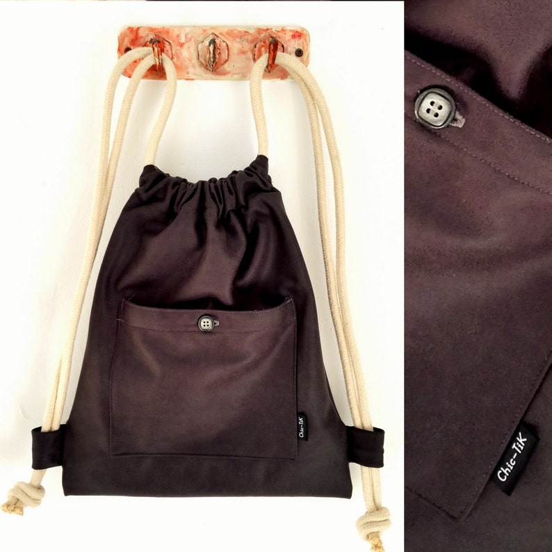 5ff2be203b Drawstring bag Vegan Bag Shoulder Bag canvas bag beach