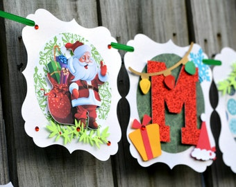 Christmas Banner MERRY CHRISTMAS BANNER Christmas decoration - Christmas Photo Prop Banners ,Christmas Holiday Decor, New Christmas Banner