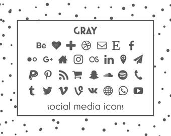 social media icons gray icons gray buttons social icon blog icons resume icons business card icons social media buttons website icon - Social Media Icons For Business Cards