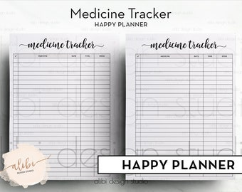 Prescription tracker | Etsy