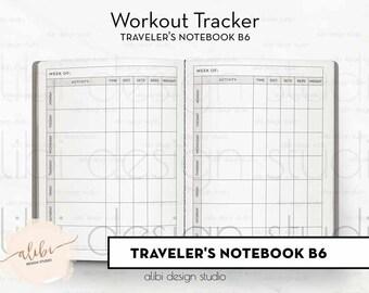 b6 workout tracker etsy