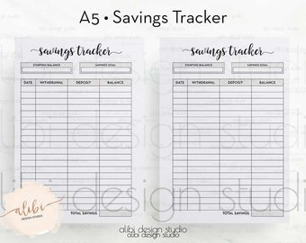 savings tracker happy planner saving planner budget etsy