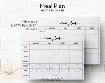 Striking image in happy planner recipe printable