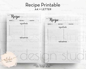 recipe binder etsy