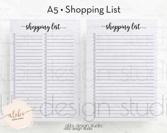 shopping list happy planner planner printable mambi etsy