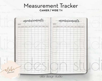 printable body measurement chart for weight loss