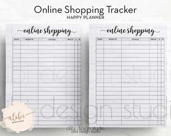 Online Shopping, Happy Planner, Shopping Tracker, MAMBI Insert, Printable Planner, Online Purchases, To Do List, Online Orders, MAMBI