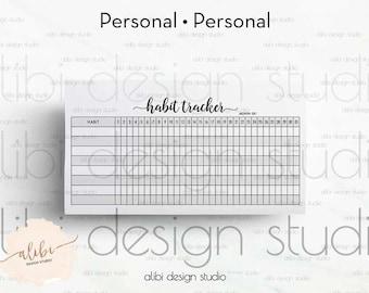 habit tracker personal planner daily habit tracker goal planner personal inserts goal tracker monthly planner habit tracker printable