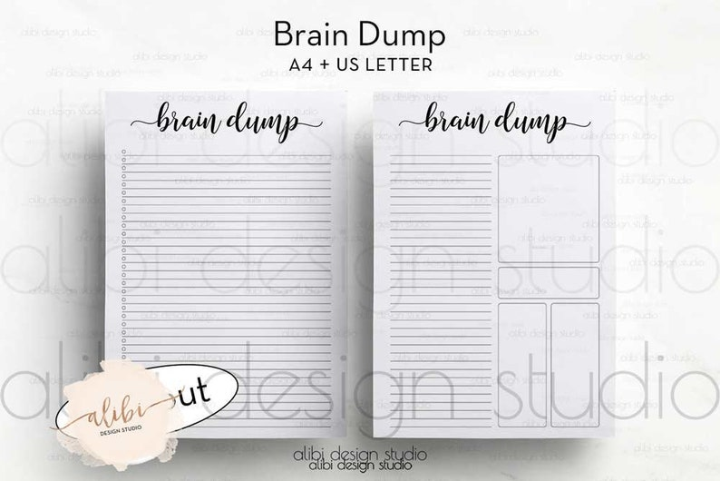 image about Brain Dump Printable known as Intellect Dump, A4 and Letter Printable, Head Dump Laptop, In direction of Do Checklist, Intellect Dump Printable, Notes, Brainstorm