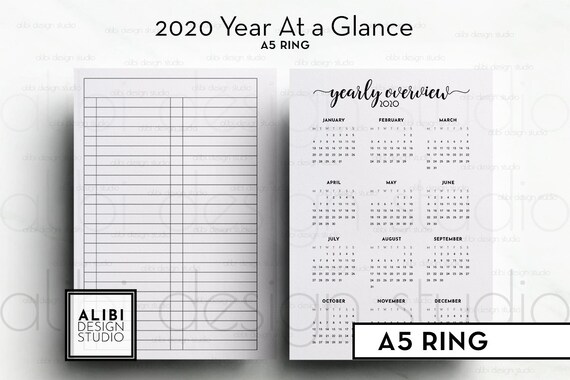 at a glance 2020 planner
