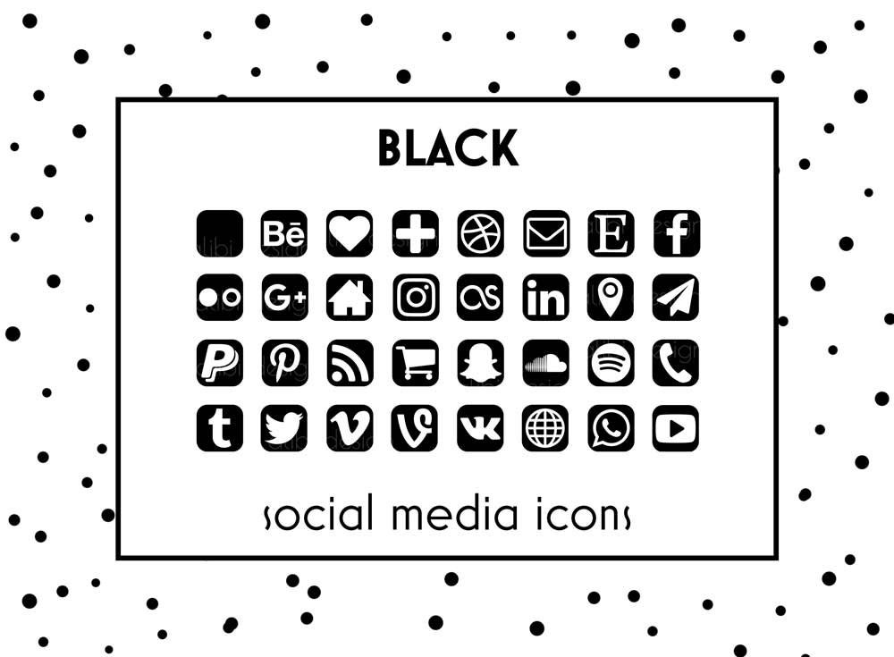 Social media icons black icons black button social icons etsy zoom colourmoves