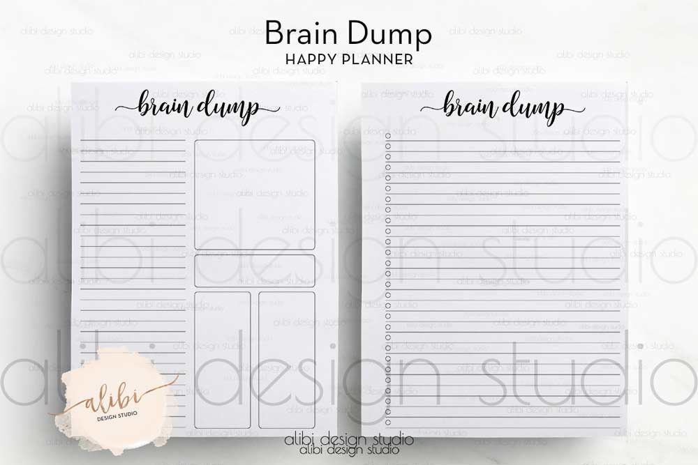 It is an image of Zany Brain Dump Printable