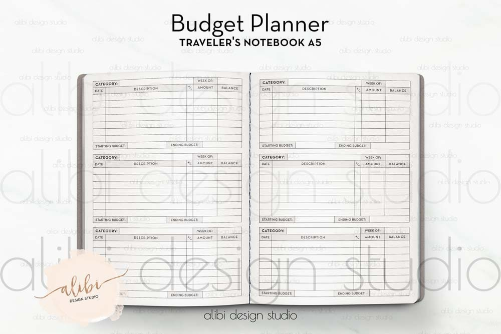a5 tn cashless envelope system budget planner finance