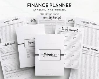 Finance Planner, Budget Planner, Expense Tracker, Income Tracker, Monthly Budget, Printable Planner, Savings, Finance Binder, A5 Planner, A4